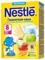 Каша Nestlé молочная пшеничная с кусочками яблока и земляникой (с 8 месяцев) 220 г