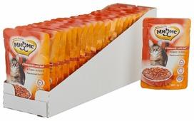 Корм для стерилизованных кошек Мнямс для профилактики МКБ, с говядиной 100 г (кусочки в соусе)