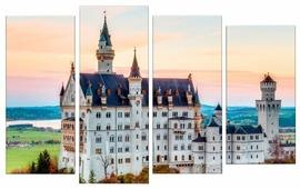 Модульная картина Картиномания Замок Нойшванштайн в Германии