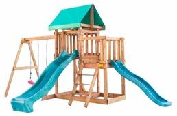 Домик Babygarden с балконом и двумя горками