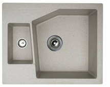 Врезная кухонная мойка ORIVEL Linea M 1.5D 62х50см полимер