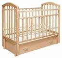 Кроватка Антел Алита-6 (с ящиком) (классическая)