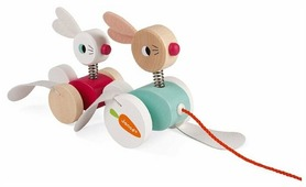 Каталка-игрушка Janod Зайчики (J08207)