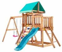 Домик Babygarden с балконом, скалолазкой и горкой 1.8 м