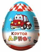 Шоколадное яйцо Mr.Chokky Крутой дрифт с игрушкой, молочный шоколад, 55 г