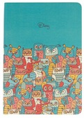 Ежедневник Канц-Эксмо Всюду Совы. Дизайн 2 полудатированный, искусственная кожа, А6, 128 листов