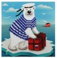 Бисеринка Набор для вышивания бисером Почтальон 12 х 12 см (Б-0206)