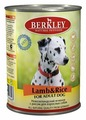 Корм для собак Berkley Паштет для собак. Новозеландский ягненок с рисом