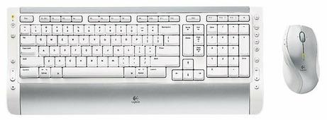 Клавиатура и мышь Logitech Cordless Desktop S 530 Laser for Mac White-Grey USB