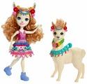 Кукла Enchantimals Лама Ллуэлла с любимой зверюшкой, 15 см, FRH42