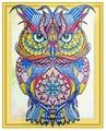 Color Kit Набор алмазной вышивки с фигурными стразами Драгоценная сова (FKU007) 40х50 см