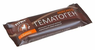 Лакомство для собак Titbit Гематоген мясной Classic