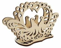 """Astra & Craft Деревянная заготовка для декорирования """"Голуби"""" L-307"""