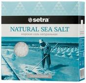 Setra Соль морская натуральная среднего помола, 500 г
