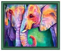 Алмазная живопись Набор алмазной вышивки Мудрость слонов (АЖ-1385) 50х40 см