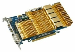 Видеокарта GIGABYTE GeForce 8500 GT 450Mhz PCI-E 512Mb 800Mhz 128 bit DVI TV HDCP YPrPb