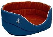 Лежак для кошек, для собак ZOOexpress Морская 1 (75611) 40х27х16 см
