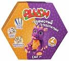 Пластилин PLUSH Пушистый фиолетовый + оранжевый 160 гр (PL02201808)