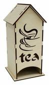 """Astra & Craft Деревянная заготовка для декорирования чайный домик """"Чай"""" L-442"""