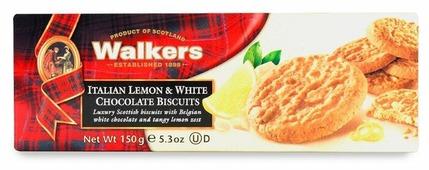 Печенье Walkers Итальянский лимон и белый шоколад 150 г