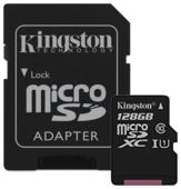 Карта памяти KINGSTON MicroSDXC 128 Гб Canvas Select с адаптером SD (SDCS/128GB)