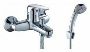 Двухрычажный смеситель для ванны с душем Rossinka Silvermix F40-31
