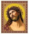 Канва для вышивания с рисунком NOVA SLOBODA Спас в терновом венце БИС-9030 19 х 23 см