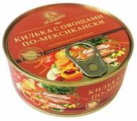 За Родину килька с овощами по-мексикански обжаренная в томатном соусе, ключ, 240 г