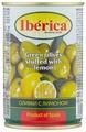 Iberica Оливки с лимоном в рассоле, жестяная банка 300 г