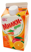 Сывороточный напиток Ярмолпрод Милкидримс с соком апельсина, манго и сахаром 0.5%, 500 г
