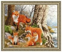 Золотое Руно Набор для вышивания Рыжая семейка 32,6 х 41 см (ДЖ-036)
