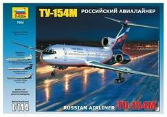 Сборная модель ZVEZDA Российский авиалайнер ТУ-154М (7004) 1:144