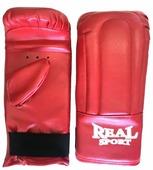 Боксерские перчатки Realsport тренировочные L