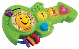 Интерактивная развивающая игрушка Fisher-Price Смейся и учись. Обучающая музыкальная гитара