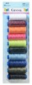 Gamma Набор швейных нитей №05 40/2 200 ярдов, 183 м, 10 шт.
