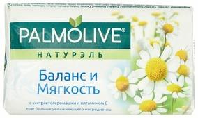 Мыло туалетное PALMOLIVE Натурэль Баланс и мягкость С экстрактом ромашки и витамином Е 90 г (8693495032742)