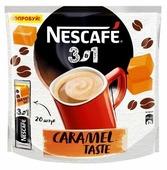 Растворимый кофе Nescafe 3 в 1 карамельный, в стиках