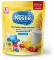 Каша Nestlé молочная мультизлаковая с бананом и кусочками земляники садовой (с 8 месяцев) 220 г дойпак