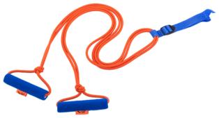 Эспандер для лыжника (боксера, пловца) V76 ЭЛБ-2Р-К двойной 360 см