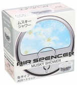 Eikosha Ароматизатор для автомобиля Air Spencer A-56, Musky Shower 50 г