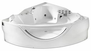 Ванна Gemy G9025-II C акрил угловая