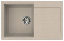 Врезная кухонная мойка elleci Easy 300 granitek 79х50см искусственный гранит