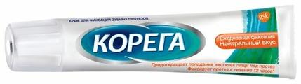 Корега Крем для фиксации зубных протезов, нейтральный