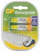 Аккумулятор Ni-Mh 2100 мА·ч GP Rechargeable 2100 Series AA