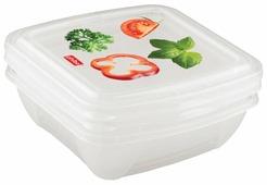 Phibo Комплект контейнеров Fresco для холодильника и микроволной печи с декором 0.5л х 3 шт