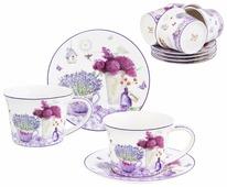 Чайный сервиз Elan gallery Лаванда 12 предметов 270 мл