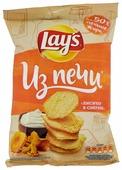 Чипсы Lay's Из печи картофельные Лисички в сметане рифленые