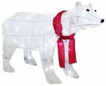 Фигурка FirstBird Белый медведь с красным шарфом