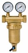 Фильтр механической очистки Гейзер Бастион 7508145201 3/4 муфтовый (ВР/ВР), латунь, с манометром