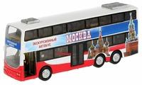 Автобус ТЕХНОПАРК двухэтажный экскурсионный Москва (CT10-054-2) 16 см